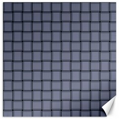 Cool Gray Weave Canvas 16  X 16  (unframed) by BestCustomGiftsForYou
