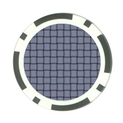Cool Gray Weave Poker Chip by BestCustomGiftsForYou