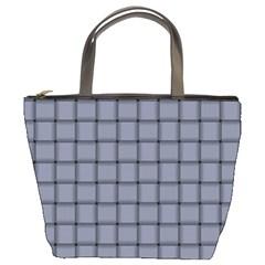 Cool Gray Weave Bucket Bag by BestCustomGiftsForYou
