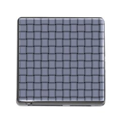 Cool Gray Weave Memory Card Reader With Storage (square) by BestCustomGiftsForYou