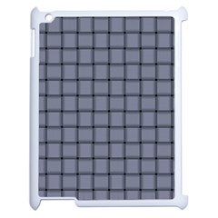 Cool Gray Weave Apple Ipad 2 Case (white) by BestCustomGiftsForYou