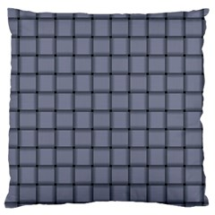 Cool Gray Weave Large Cushion Case (one Side) by BestCustomGiftsForYou