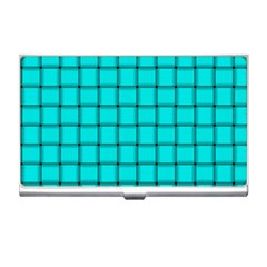 Cyan Weave Business Card Holder by BestCustomGiftsForYou