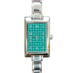 Turquoise Weave Rectangular Italian Charm Watch