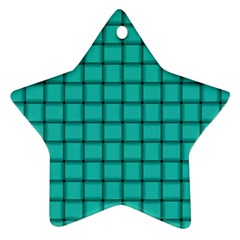 Turquoise Weave Star Ornament by BestCustomGiftsForYou