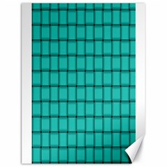 Turquoise Weave Canvas 18  X 24  (unframed) by BestCustomGiftsForYou