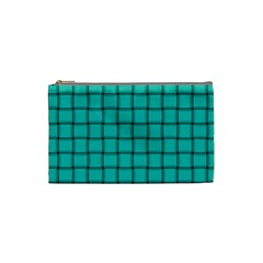 Turquoise Weave Cosmetic Bag (small) by BestCustomGiftsForYou