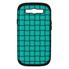 Turquoise Weave Samsung Galaxy S Iii Hardshell Case (pc+silicone) by BestCustomGiftsForYou