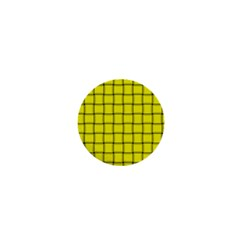 Yellow Weave 1  Mini Button Magnet by BestCustomGiftsForYou