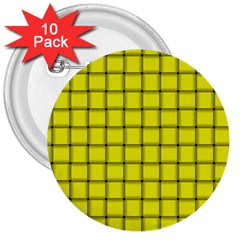Yellow Weave 3  Button (10 Pack) by BestCustomGiftsForYou