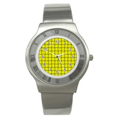 Yellow Weave Stainless Steel Watch (Unisex) by BestCustomGiftsForYou