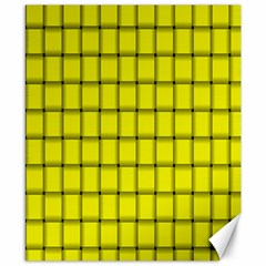 Yellow Weave Canvas 8  X 10  (unframed) by BestCustomGiftsForYou