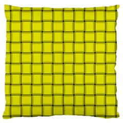 Yellow Weave Large Cushion Case (two Sides) by BestCustomGiftsForYou