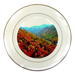 Through The Mountains Porcelain Display Plate by Majesticmountain