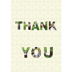 Thank U Card By Mindy   Thank You 3d Greeting Card (7x5)   Ozp46srhe9km   Www Artscow Com Inside