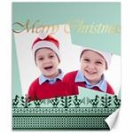merry christmas - Canvas 8  x 10