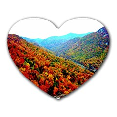 Through The Mountains Mouse Pad (heart) by Majesticmountain