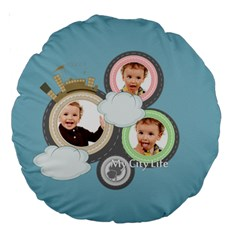 Kids By Anita   Large 18  Premium Round Cushion    Bg5rowhpgo1w   Www Artscow Com Back