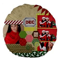 Christmas By Debe Lee   Large 18  Premium Round Cushion    Fj04tiretrqs   Www Artscow Com Back