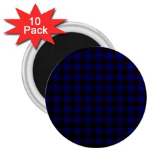 Homes Tartan 2 25  Button Magnet (10 Pack) by BestCustomGiftsForYou