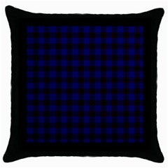 Homes Tartan Black Throw Pillow Case by BestCustomGiftsForYou