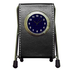 Homes Tartan Stationery Holder Clock by BestCustomGiftsForYou