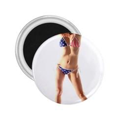 Usa Girl 2 25  Button Magnet by hlehnerer