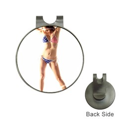 Usa Girl Hat Clip With Golf Ball Marker by hlehnerer