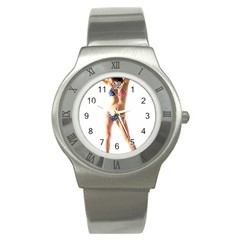 Usa Girl Stainless Steel Watch (unisex) by hlehnerer