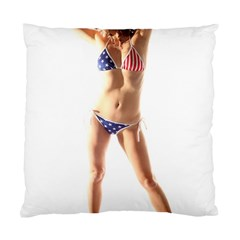 Usa Girl Cushion Case (two Sides) by hlehnerer