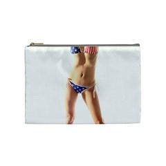 Usa Girl Cosmetic Bag (medium) by hlehnerer