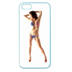 Usa Girl Apple Seamless Iphone 5 Case (color) by hlehnerer