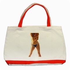 Usa Girl Classic Tote Bag (red) by hlehnerer