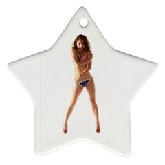 Usa Girl Star Ornament (two Sides) by hlehnerer