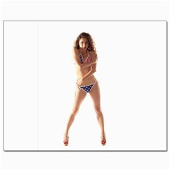 Usa Girl Canvas 8  X 10  (unframed) by hlehnerer