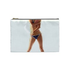 Usa Girl Cosmetic Bag (medium) by hlehnerer