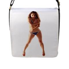 Usa Girl Flap Closure Messenger Bag (large) by hlehnerer