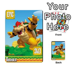 Super Mario Planning Poker Cards By Pek   Multi Purpose Cards (rectangle)   Zvte3pgqtvao   Www Artscow Com Front 51