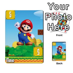 Super Mario Planning Poker Cards By Pek   Multi Purpose Cards (rectangle)   Zvte3pgqtvao   Www Artscow Com Front 45