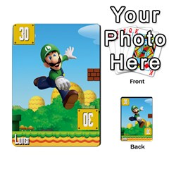 Super Mario Planning Poker Cards By Pek   Multi Purpose Cards (rectangle)   Zvte3pgqtvao   Www Artscow Com Front 49