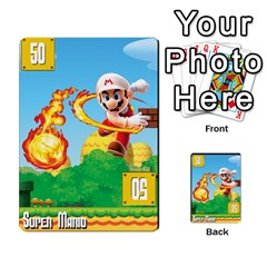 Super Mario Planning Poker Cards By Pek   Multi Purpose Cards (rectangle)   Zvte3pgqtvao   Www Artscow Com Front 50