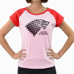 Winter Is Coming ( Stark ) 2 Women s Cap Sleeve T Shirt (colored) by Lab80