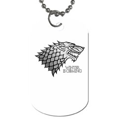 Winter Is Coming ( Stark ) 2 Dog Tag (one Sided) by Lab80