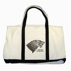 Winter Is Coming ( Stark ) 2 Two Toned Tote Bag by Lab80
