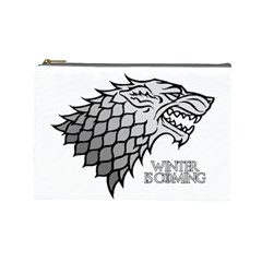 Winter is Coming ( Stark ) 2 Cosmetic Bag (Large)