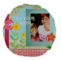 Mom By Jacob   Large 18  Premium Round Cushion    Ifxjzqrwp2xv   Www Artscow Com Back