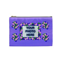 Lavender Flower Medium Cosmetic Bag By Joy Johns   Cosmetic Bag (medium)   Cn8cygz2bvyv   Www Artscow Com Front