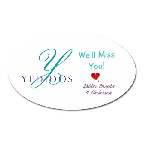 Yedidos Magnet By Hadassah   Magnet (oval)   8l1vozto9uc7   Www Artscow Com Front