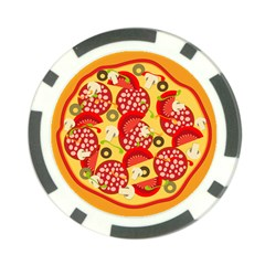 Pizza By Divad Brown   Poker Chip Card Guard (10 Pack)   Md3izh6kyf4e   Www Artscow Com Front