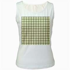 Cream Weave Womens  Tank Top (white) by BestCustomGiftsForYou